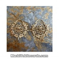 Boucles dOreille Brass Lotus eyes
