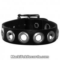 Bracelet Cuir 1 Rang Avec Oeillets