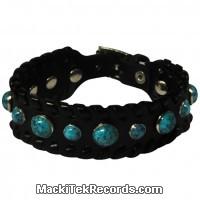 Bracelet Cuir Blue Stones
