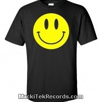 T-Shirt Noir Smiley