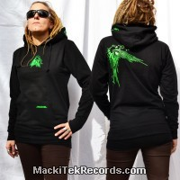 Sweat Femme Noir Abstract Solar Perfect Green