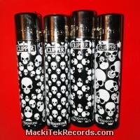 x4 Briquet Clipper Skull Patterns