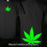 T-Shirt Noir Weed