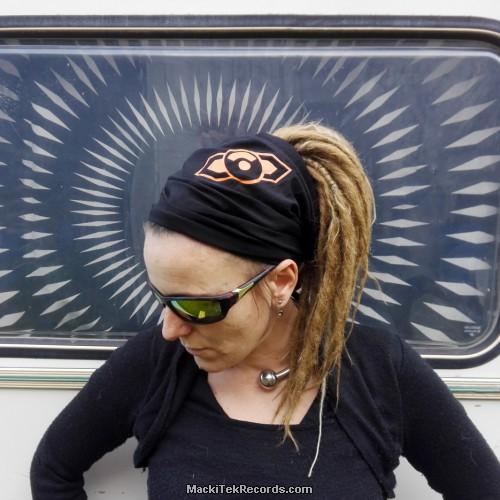 Bandeau Noir MackiTek Geometrix Orange