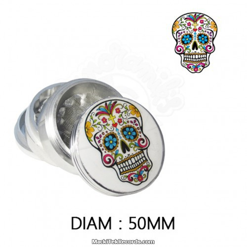 Grinder Alu Mexican Skull 50mm