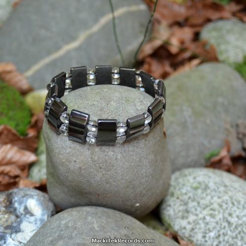 Bracelet hématite et cristal