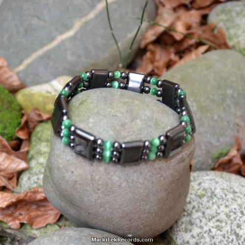 Bracelet hématite et oeil de chat