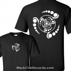 T-Shirt Noir MackiTek Crop Circle 08V2