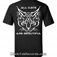 T-Shirt Noir All Cats Are Beautiful