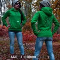 Sweat Vert Femme Crop Circle 14