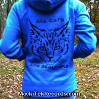 Sweat Femme Electric Blue All Cats Are Beautiful