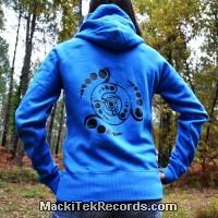 Sweat Femme Electric Blue Crop Circle 08V2