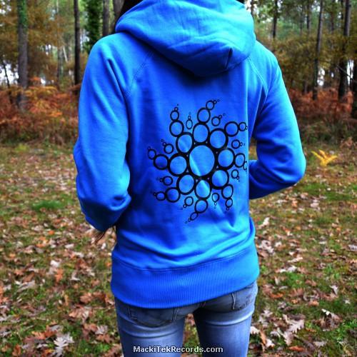 Sweat Femme Electric Blue Crop Circle 14