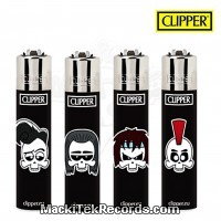 Mini Briquet Clipper Rock Skulls