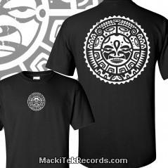 T-Shirt Noir Tribal Effect