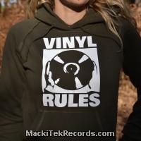 Sweat S Femme Kaki Vinyl Rules