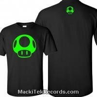 T-Shirt Black 1Up Green