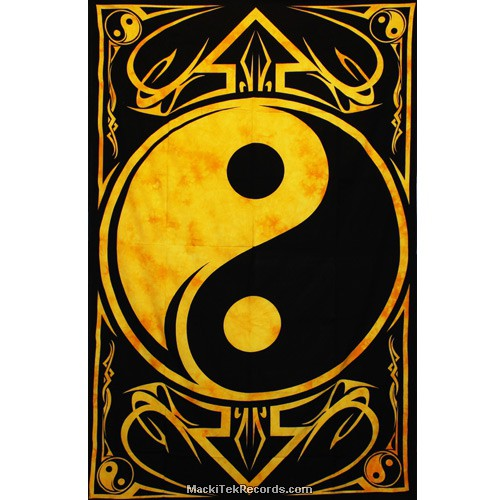 Tenture Yin Yang Tes130 Jaune