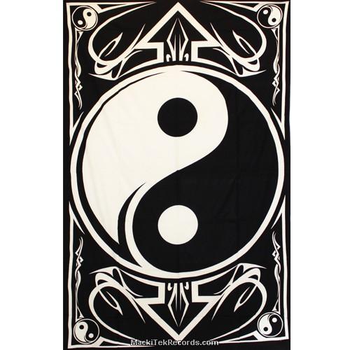 Tenture Yin Yang Tes130 Blanc