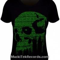 Tee Shirt Women Cyber Skull