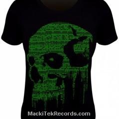 Tee Shirt Femme Cyber Skull