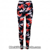 Leggings Camouflage Rouge