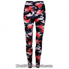 Leggings Camouflage Rouge