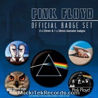 x5 Badges Pink Floyd Classic Albums