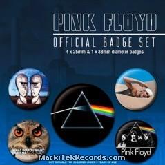 x5 Badges Pink Floyd Classic Albums