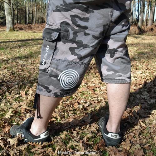 Short Grey Camouflage MackiTek Spiral