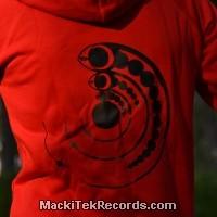Veste Zip Rouge L Crop Circle 15