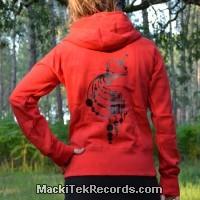 Veste Zip Rouge L Crop Circle 03