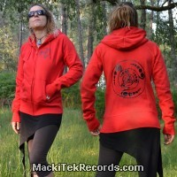 Veste Zip Rouge L Crop Circle 08