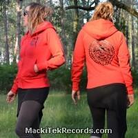 Veste Zip Rouge Tribal Effect