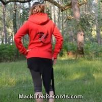 Veste Zip Rouge L Crop Circle 16