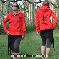 Veste Zip Rouge L Unexplored