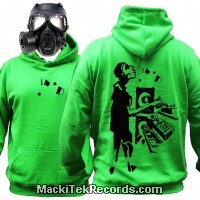 Sweat Alien Green MackiTek Tekno Music Spirit