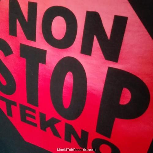 T-Shirt Noir Non Stop Tekno