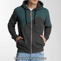 Veste Zip Green and Grey