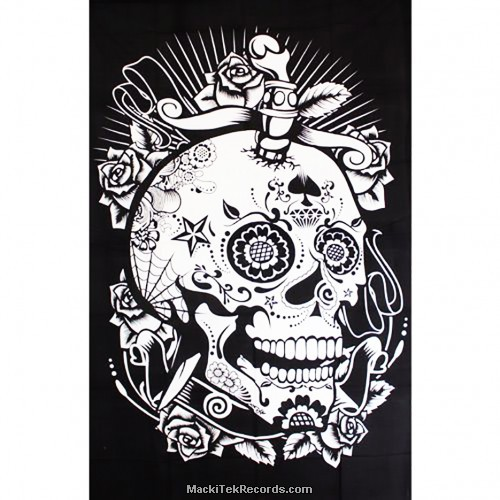 Tenture Skull Circus TES166