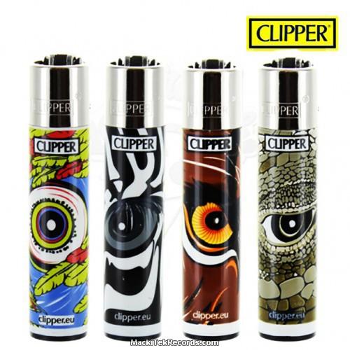 x4 Briquet Clipper Animals Eyes