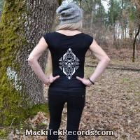T-Shirt Femme Noire MackiTek Geometrix V2