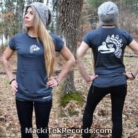 T-Shirt Gris M Femme Ancient Symbol 4