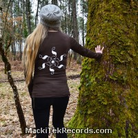 T-Shirt Manches Longues Marron Dark Crop Circle 09