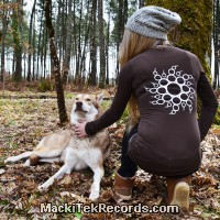 T-Shirt Manches Longues Marron Dark Crop Circle 14