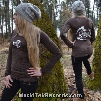 T-Shirt Manches Longues Marron Dark Crop Circle 08V2