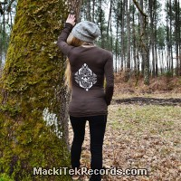 T-Shirt Manches Longues Marron Dark Geometrix V2
