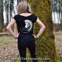 T-Shirt Femme Noire Crop Circle 15