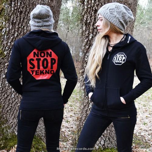 Veste Zip Femme Noire Non Stop Tekno