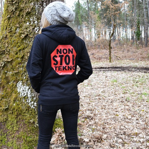 Sweat Femme Noir Non Stop Tekno